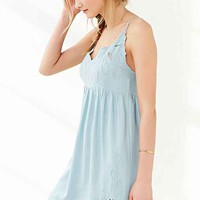Staring At Stars Applique Babydoll Slip Dress-
