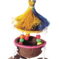 Trop Teaser Tiki Hut Bird Toy