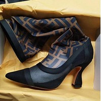 FENDI FF High Heel High Tube Boot