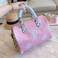 Louis Vuitton High Quality Women Leather Shoulder Bag Handbag Crossbody Satchel Pink