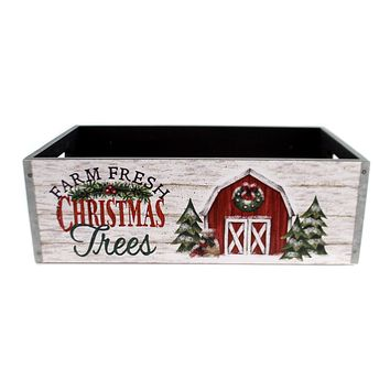 Christmas COUNTRYSIDE MESSAGE PLANTER Wood Message 9733589M