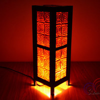 Thai Vintage lamps Orange Spiral Mulberry Paper House Lighting and Holiday Decoration