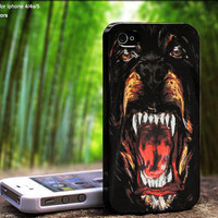 Black Givenchy Rottweiler Fashion Kanye West Design For iPhone 5 / 4 / 4S - Samsung Galaxy S3 / S4 ( Black / White case )
