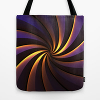Purple/Gold One Tote Bag by Lyle Hatch