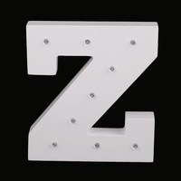 Awesome Decor! 26 Letters on Wood  Night Lights or Always! Battery Operated