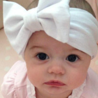 Baby Girl Cotton Hair Bow Headband - Stretch Headwraps With Bow