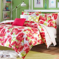 Teen Vogue Painted Poppy 2-pc. Reversible Comforter Set - Twin (Red)