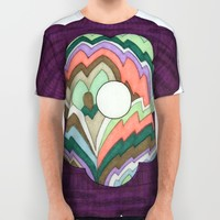 Deco Flower All Over Print Shirt by Erin Brie Art