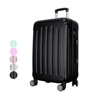 Plastic Rolling Luggage Traveling Luggage Bags with Spinner wheels Suitcases