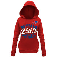 Buffalo Bills 5th and Ocean by New Era Women's Trick Play Pullover Hoodie – Red