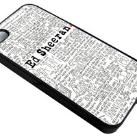 Ed Sheeran Lyrics Song  iPhone 4/4S - Hard Plastic, Rubber Case