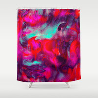 Lava Shower Curtain by Jacqueline Maldonado