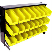 Stalwart? 24 Bin Parts Storage Rack Trays