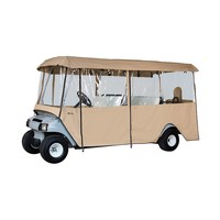 Classic Accessories Deluxe 4-Sided Golf Cart Enclosure (Beige/Khaki)