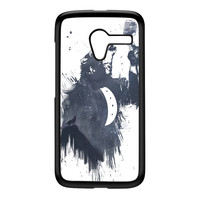 Wolf Song 3 Black Hard Plastic Case for Moto X by Balazs Solti