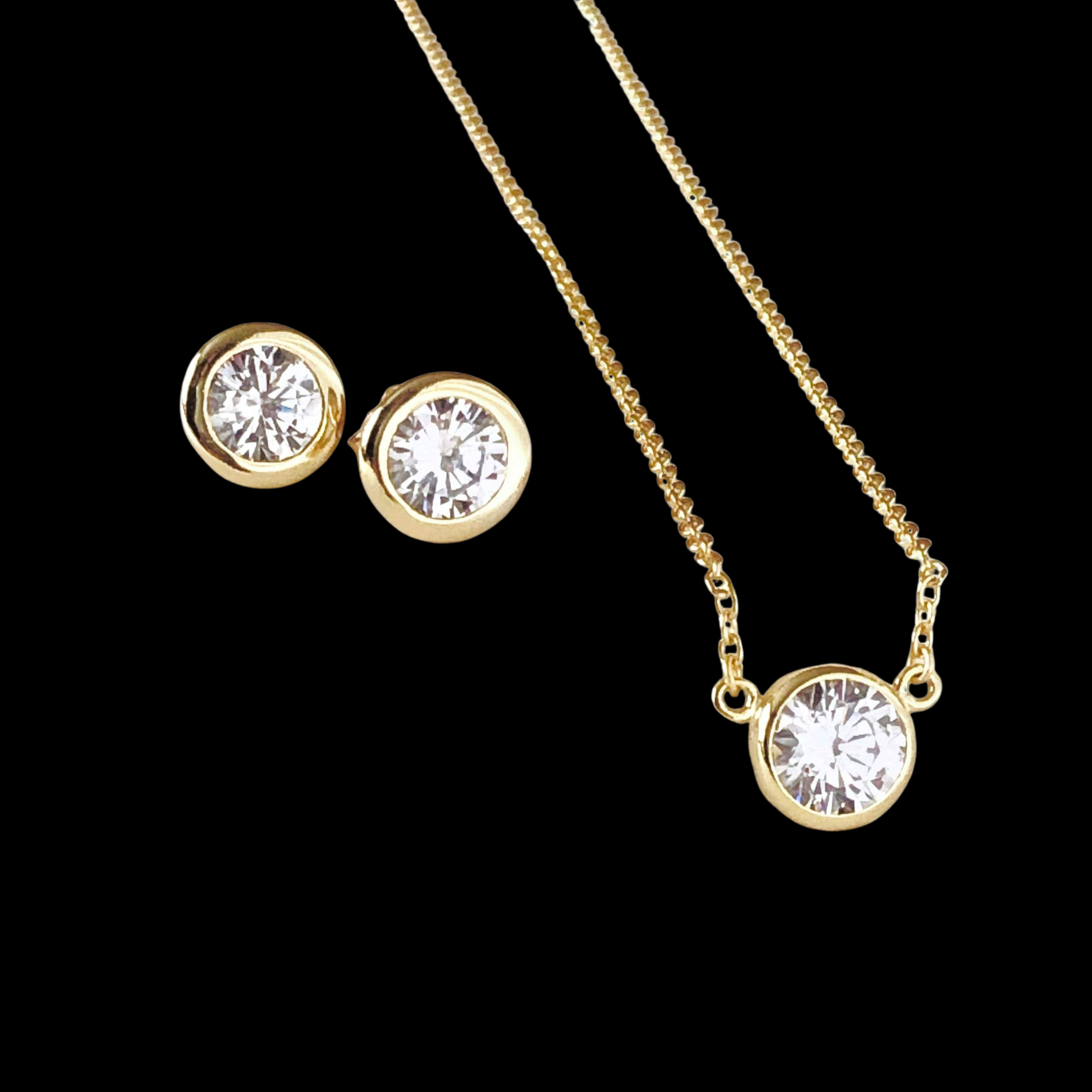 Image of Diamond Necklace and Earring Gift Set