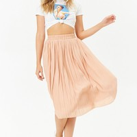 Pleated Knee-Length Skirt