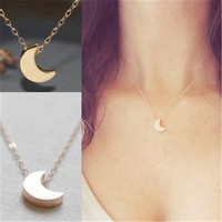 2016 Fashion Cute Moon Pendant necklace For Women Gift love eternity Chokers Necklaces Chocker jewelry n70