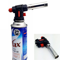 Hot Butane Gas Torch Flamethrower Burn Combustor Auto Ignition Welding Outdoor BBQ KSKS W023