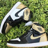 Air Jordan 1 Retro High OG NRG Gold Top 3 AJ1 Sneakers