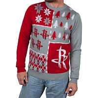 Houston Rockets - Busy Block Ugly Christmas Sweater