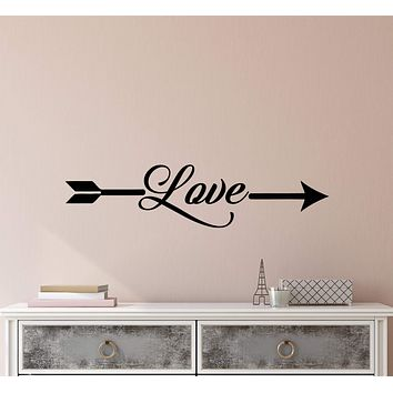 Vinyl Wall Decal Stickers Romance Quote Words Love Arrow Inspiring Letters 2355ig (22.5 in x 5 in)