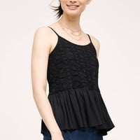 Lissie Fluttered Lace Camisole, Black