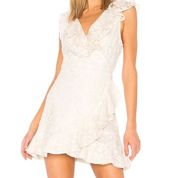 Harlow Embroidered Wrap Dress