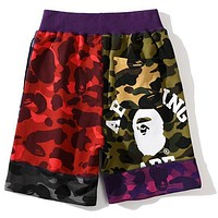 Tiktoki1 BAPE camouflage multilayer stitching  shorts
