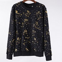 Givenchy new winter zodiac printing men and women round neck leisure sweater
