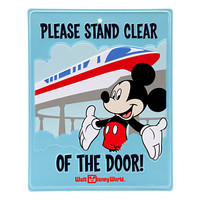 Mickey Mouse and Monorail Tin Sign - Walt Disney World