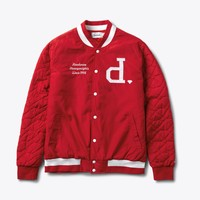 Un-Polo Varsity Jacket in Red