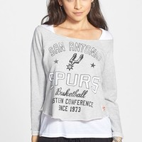 Sportiqe 'San Antonio Spurs' Fleece Crop Sweatshirt (Juniors) (Online Only) | Nordstrom