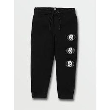 Volcom Youth Stone Stack Fleece Pant-BLK