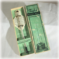 Meat Thermometer, Taylor, Kitchen Gadget, Vintage Thermometer, Roast Meat, Mid Century, Mod 5936