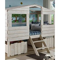 Liam White Club House Loft Beds with Storage Drawers