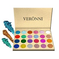 Naked Glitter Eyeshadow Pigment Eyeshadow Palette Cosmetic Shimmer Eyeshadow Makeup Kit Charming Eye