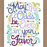 8x10in Hunger Games Quote Illustration by unraveleddesign on Etsy