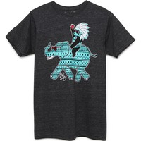 Riot Society Tiff Elephant Ride T-Shirt - Mens Tee - Black