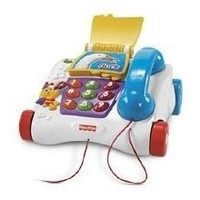 Fisher Price Counting Friends Pull Telephone Phone Book Animals