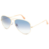 Ray-Ban Aviator Large Metal Sunglasses Gold/Blue Gradient One Size For Men 25603962101