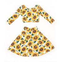 Sunflower Matching Twin Set