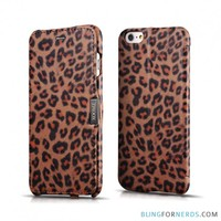 Leopard Print Flip Case - iPhone 6