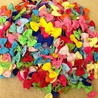 50PCS/LOT Handmade Designer Pet Dog Accessories Grooming Hair Bows For Dogs