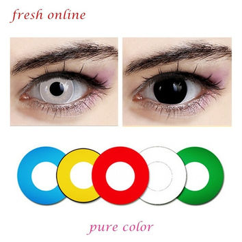 (8 color options) Crazy lenses for holloween, Cosplay and party pure color contact lenses = 1946810308