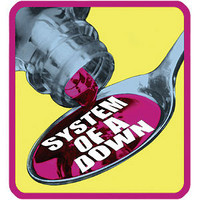 System Of A Down Men's Embroidered Patch Pink