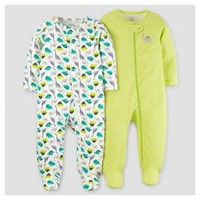 Baby Boys' 2pk Dinos Sleep N' Play - Just One You™ Made by Carter's® Lime/Blue