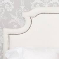 NEW! Layla Upholstered Headboard in Ivory