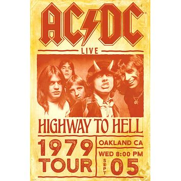 """AC/DC Highway to Hell 1979 Tour Poster (24""""x36"""")"""