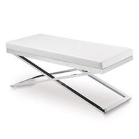 White Modern Lounge Bench